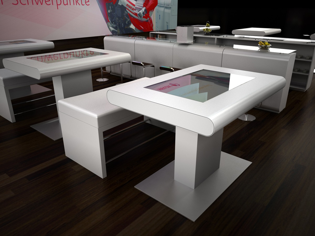 Messestand visualisierung render vision for Solidworks design table zoom
