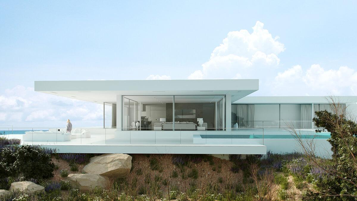 villa high end 3d visualisierung render vision. Black Bedroom Furniture Sets. Home Design Ideas