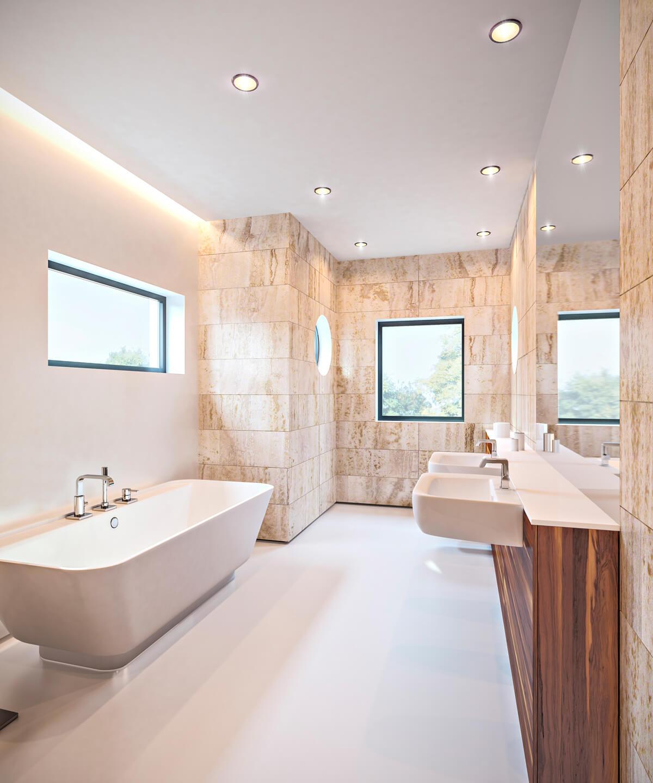 Einfamilienhaus 3d visualisierung render vision for Innenarchitektur einfamilienhaus