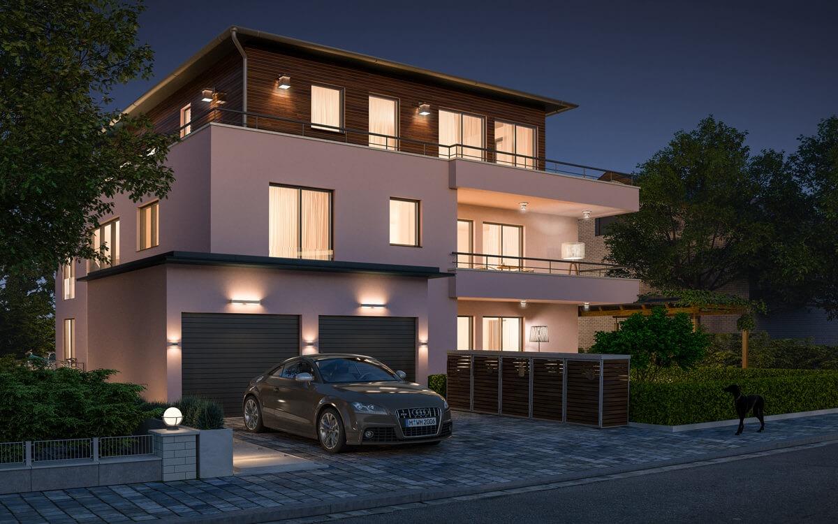 mehrfamilienhaus architekturvisualisierung render vision. Black Bedroom Furniture Sets. Home Design Ideas