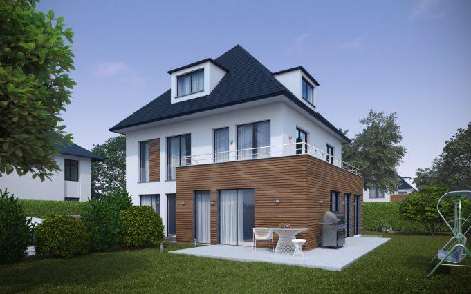 Einfamilienhaus 3D Visualisierung 01