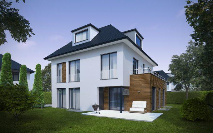 Einfamilienhaus 3D Visualisierung 02