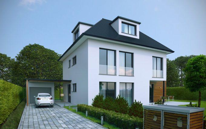 Einfamilienhaus 3D Visualisierung 03