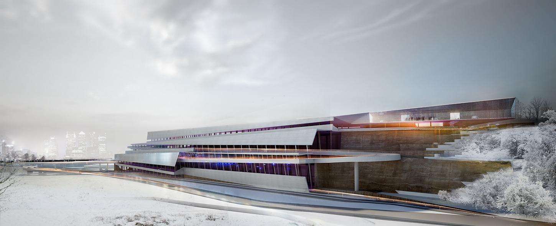 Architekturvisualisierung eines Parkhauses