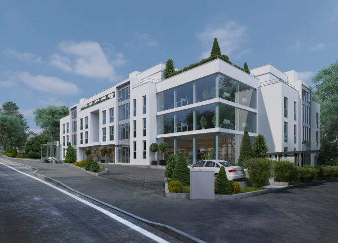 3D Visualisierung Mehrfamilienhaus