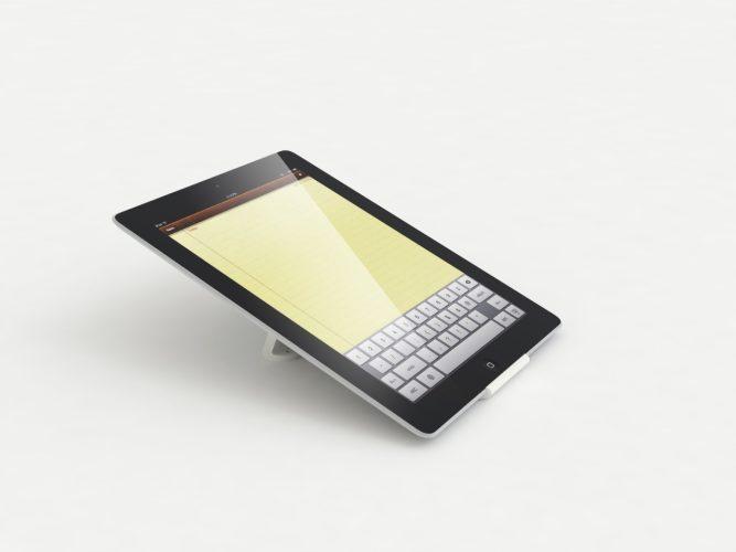 iPad-Ständer weiß