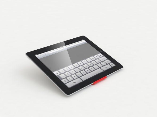 iPad-Ständer Rot