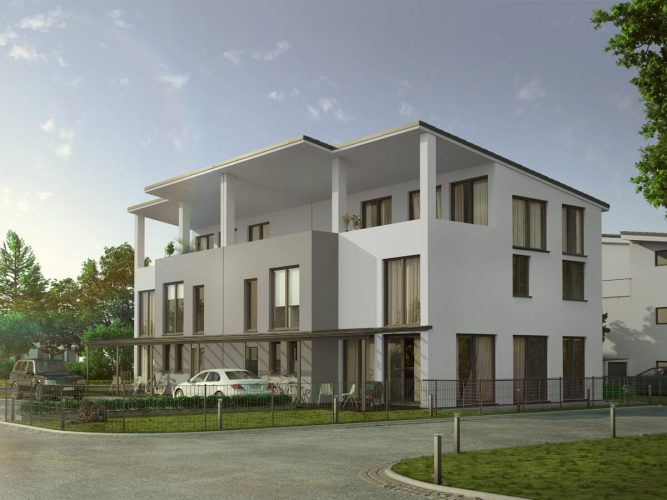 Doppelhaus 3D Visualisierung