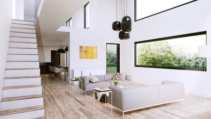 Wohnzimmer kueche 3D visualisierung