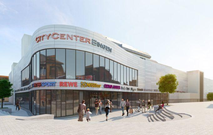 3D Visualisierung Shopping Mall in Bingen - Architektur