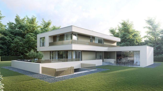 architekturvisualisierung bauhaus villa