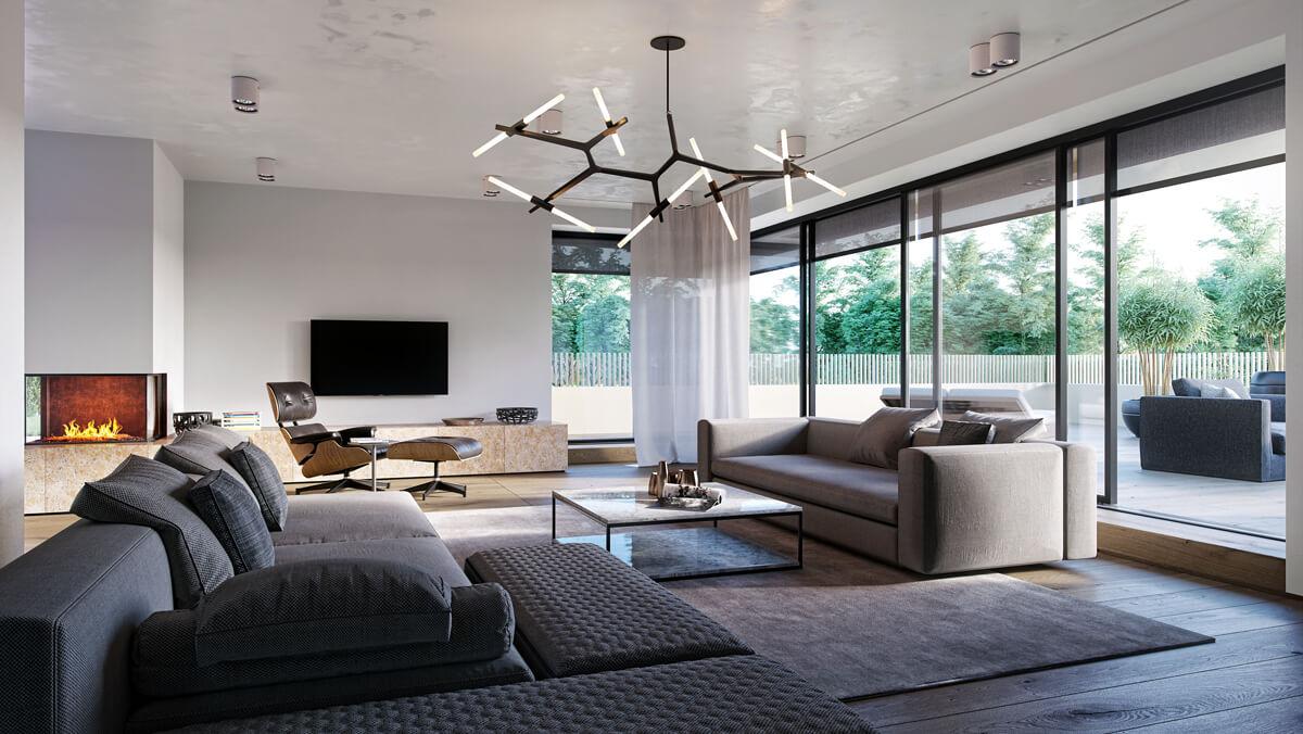 bauhaus villa innenvisualisierung render vision. Black Bedroom Furniture Sets. Home Design Ideas