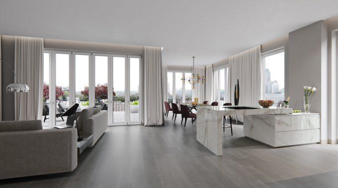 Holzhausen wohnzimmer visualisierung frankfurt