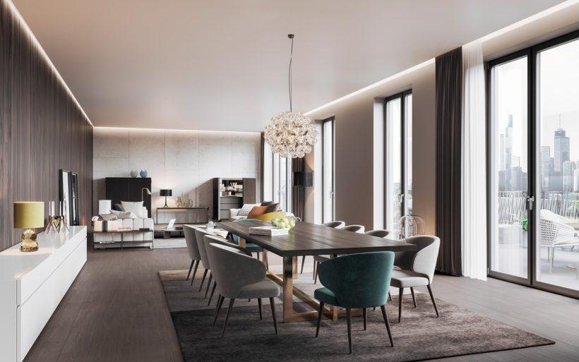 minotti wohnung 3d visualisierung render vision. Black Bedroom Furniture Sets. Home Design Ideas