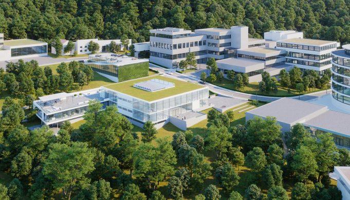 Visualisierung Architektur - Gebäude Luftaufnahme