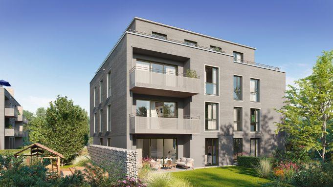 Architekturvisualisierung Gebäude von außen