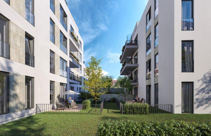 Frankfurt_Wingertstrasse Visualisierung der Architektur